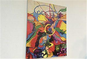 ຕົວຢ່າງ Canvas ພິມໂດຍເຄື່ອງພິມ U1 ຂະຫນາດ A1 WER-EP6090UV